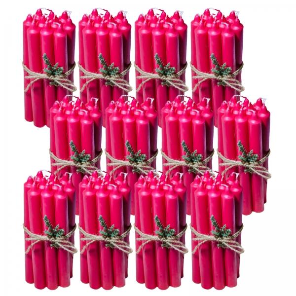 12 Seturi Lumanari Rosii de 10 buc, drepte 2,2*22cm 1
