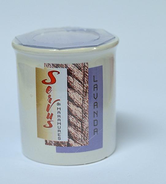 Lumanare Parfumata LAVANDA, cu 2 fitile din lemn 2