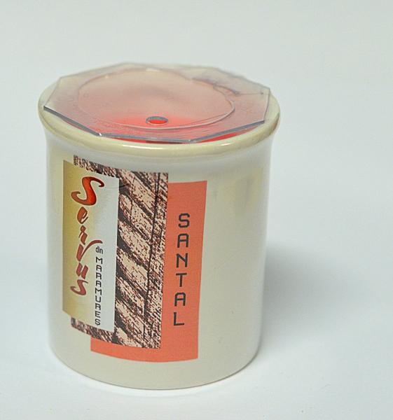 Lumanare Parfumata LEMN DE SANTAL, cu 2 fitile din lemn 2