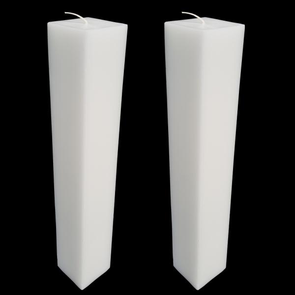 Set 2 Lumanari Nunta,model Patrat, H=70 cm / D=5,5 cm 2