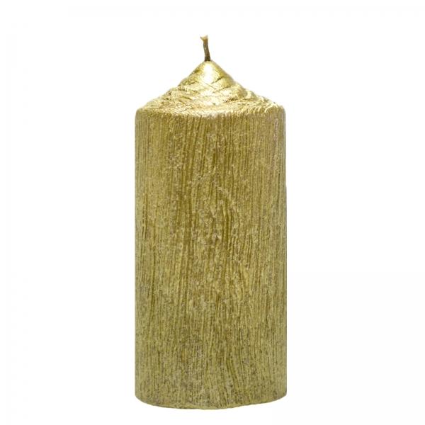 Set 4 Lumanari Aurii, cilindru 13 cm 2