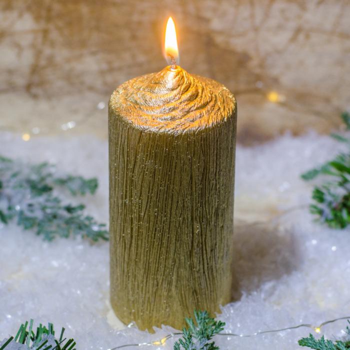 Lumanare AURIE , cilindru 13 cm 0
