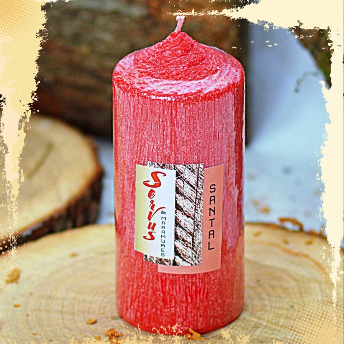Lumanare Parfumata LEMN DE SANTAL , cilindru 130 mm 1
